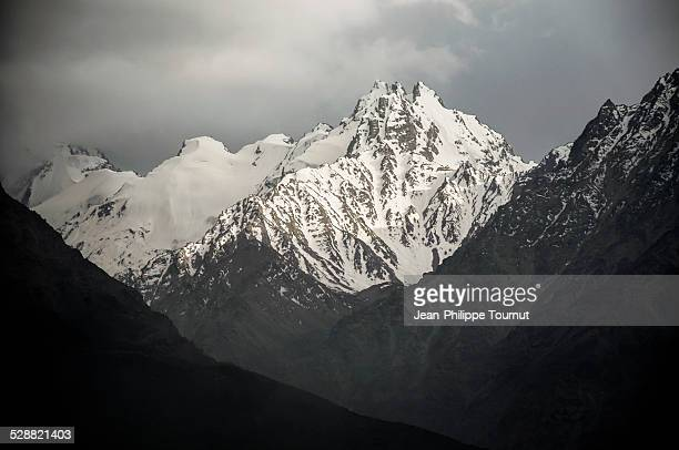 high summit in the afghan hindu kush - badakhshan stock photos and pictures