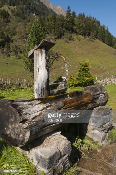 High Tauern landscape with fountain