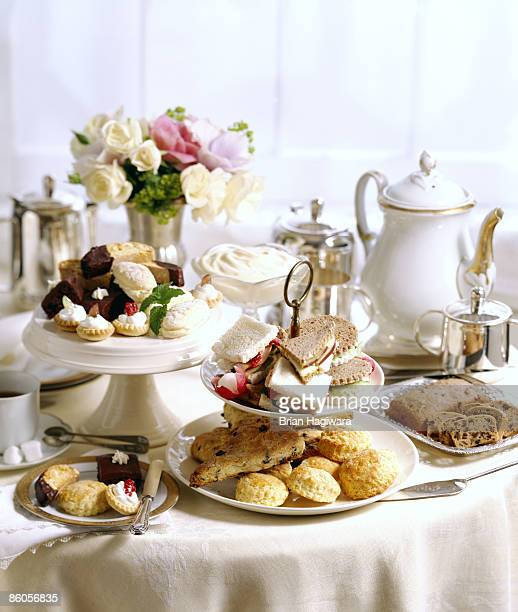 high tea buffet - afternoon tea stock pictures, royalty-free photos & images
