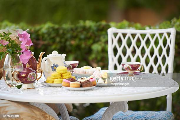 high tea! - tea party stock pictures, royalty-free photos & images