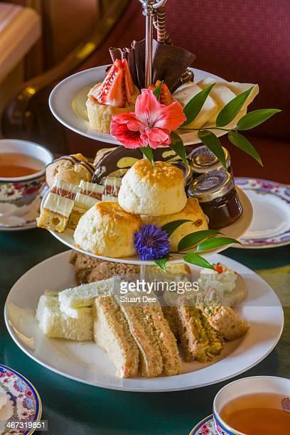 high tea - victoria canada stock photos and pictures