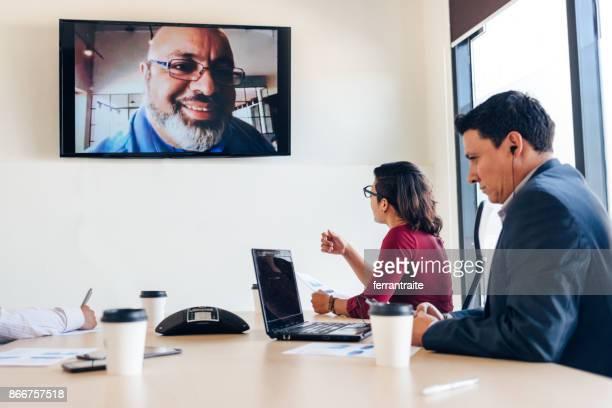 High Tech Business Meeting