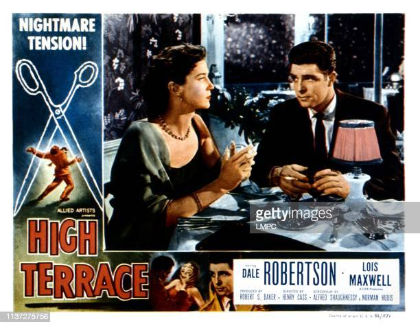 High Terrace, lobbycard, from left, Lois Maxwell, Dale Robertson, 1956.