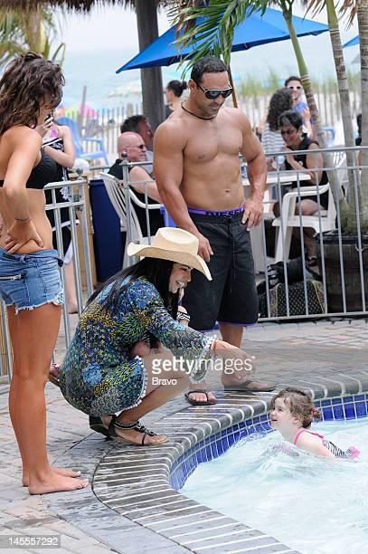 "High Tide, Low Blow"" Episode 401 -- Pictured: Teresa Giudice, Joe Gorga, daughter Audriana Giudice --"