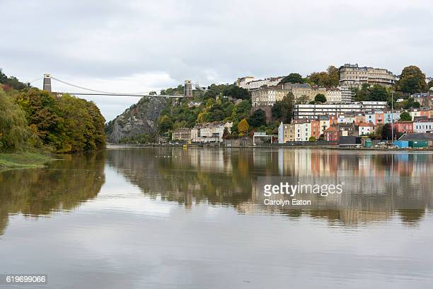 High tide on the River Avon in Bristol