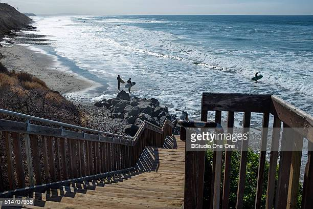 high tide - carlsbad california stock pictures, royalty-free photos & images