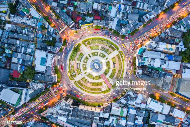 high up traffic - drone point of view stock pictures, royalty-free photos & images