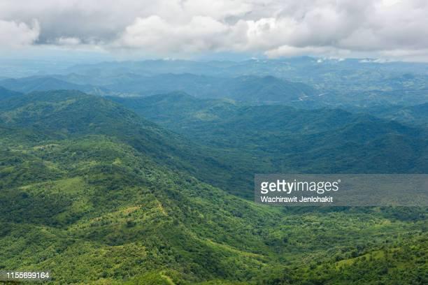 high view, beautiful mountain view in thailand (phu thap boek). - boek stock-fotos und bilder