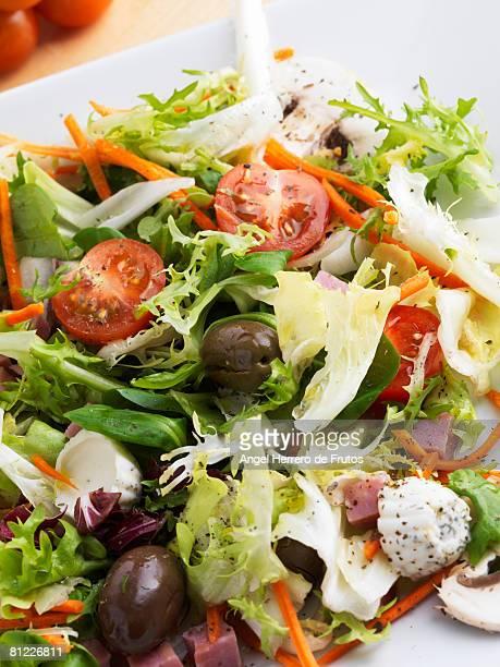 High view of a Mediterranean Salad . Spain 2008.