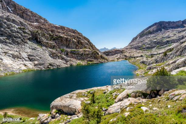 High view of Lower Palisades Lake, Inyo National Forest