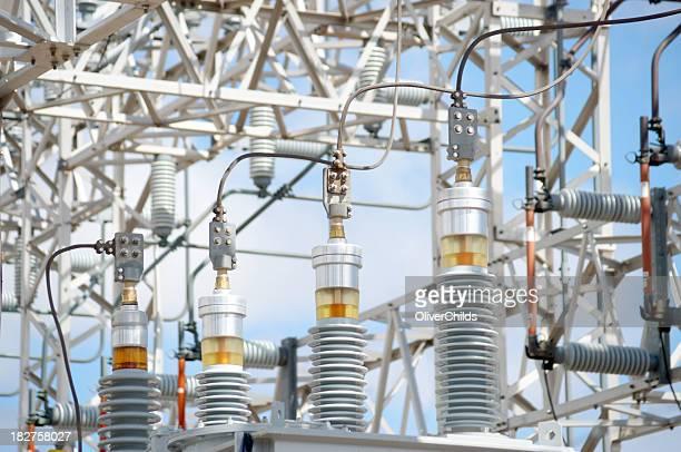 High voltage power supply.