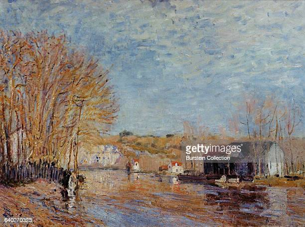 High Waters at MoretSurLoing by Alfred Sisley