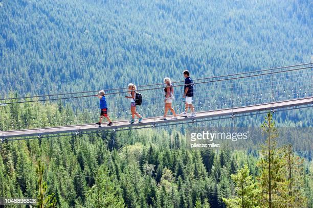 hochseil, squamish, vancouver, b.c., kanada - hängebrücke stock-fotos und bilder