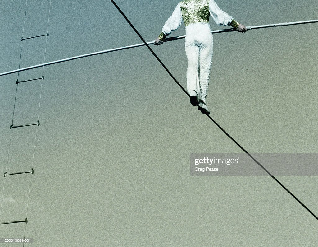 High Wire Walker Rearview Low Angle View Stock Photo | Getty Images