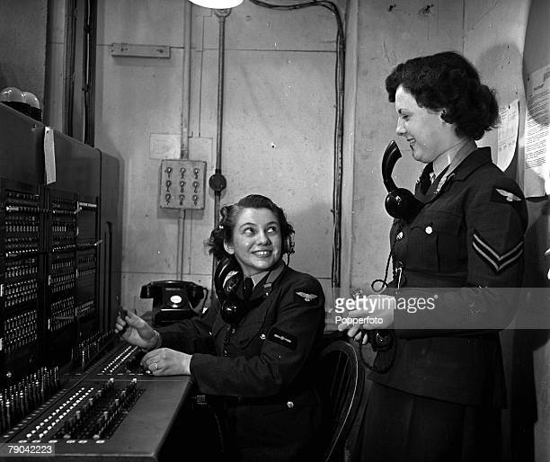 High Wycombe England RAF Bomber Command Telephone operators of Bomber Command