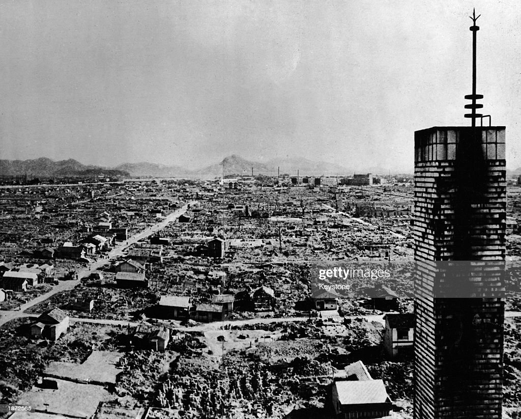 High Angle View of Hiroshima After Atomic Bomb. : Foto jornalística