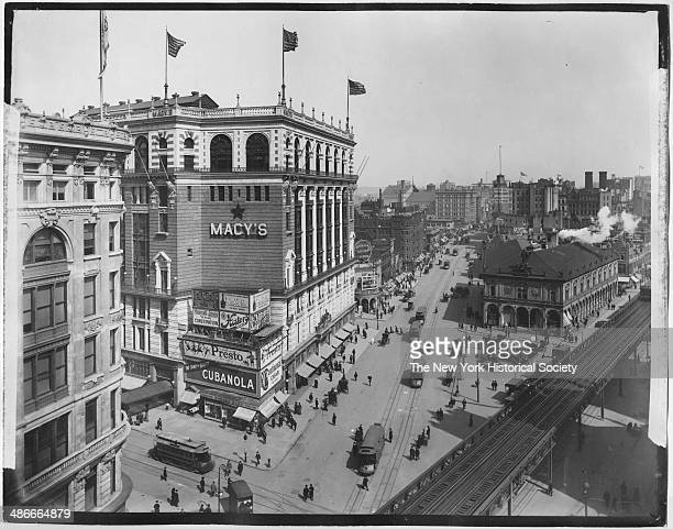 Highangle view of Macy's Herald Square Broadway and 34th Street New York New York 1895