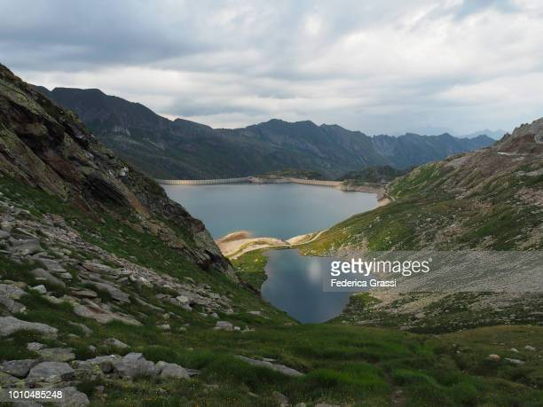 High-angle View of Naret Reservoir, Ticino, Switzerland