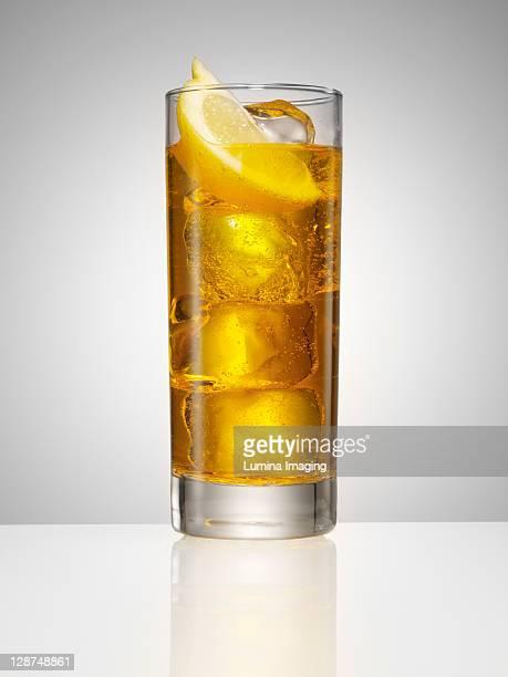 highball cocktail with lemon