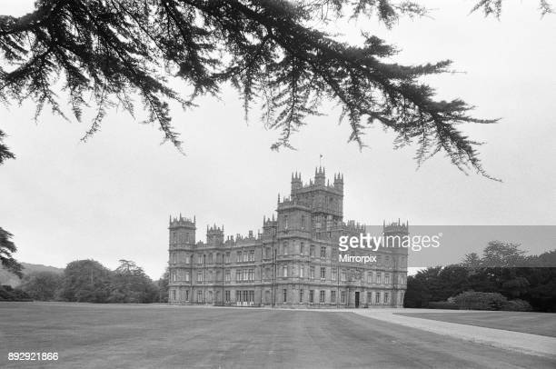 Highclere Castle country seat of the Earl of Carnarvon. Highclere, Hampshire. Circa September 1979.