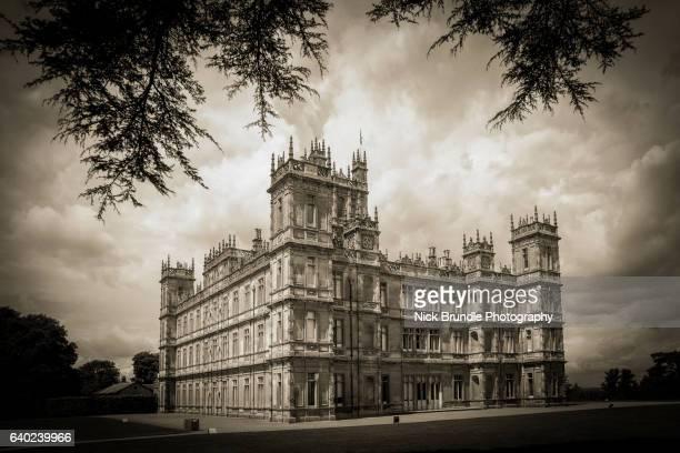 highclere castle, hampshire, england - ウェスト・バークシャー ストックフォトと画像