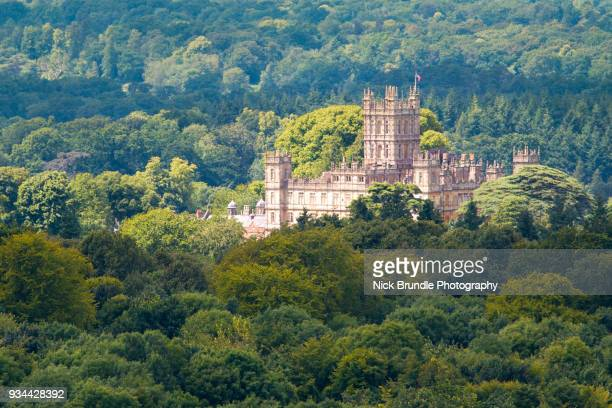 highclere castle, hampshire, united kingdom - ハイクレア城 ストックフォトと画像