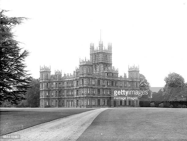 Highclere Castle Highclere Hampshire 1890 The exterior of the largest mansion in Hampshire from the northeast an Elizabethanstyle remodelling of an...