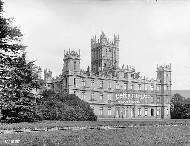 Highclere Castle Highclere Hampshire c1860c1922 The exterior of the castle remodelled in an Elizabethan style in 183942 taken from the south east