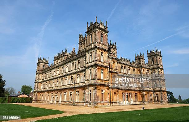 Highclere Castle is pictured in Highclere southern England on May 12 2016 As Britain mulls questions of identity and its possible exit from the...