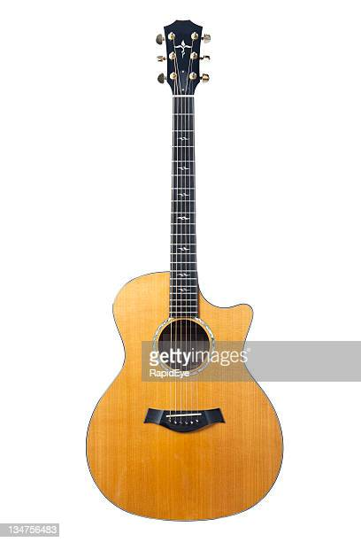 high-end acoustic guitar - acoustic guitar stock pictures, royalty-free photos & images