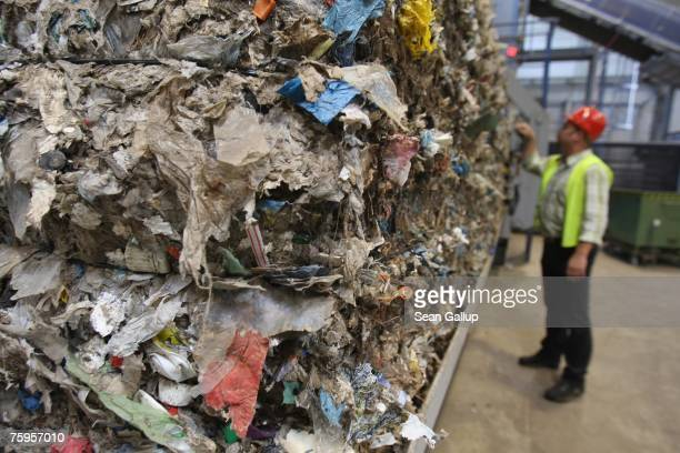 Highenergy grade garbage awaits to be packed at a garbage processing center August 3 2007 in Nuemuenster Germany The center known as a...