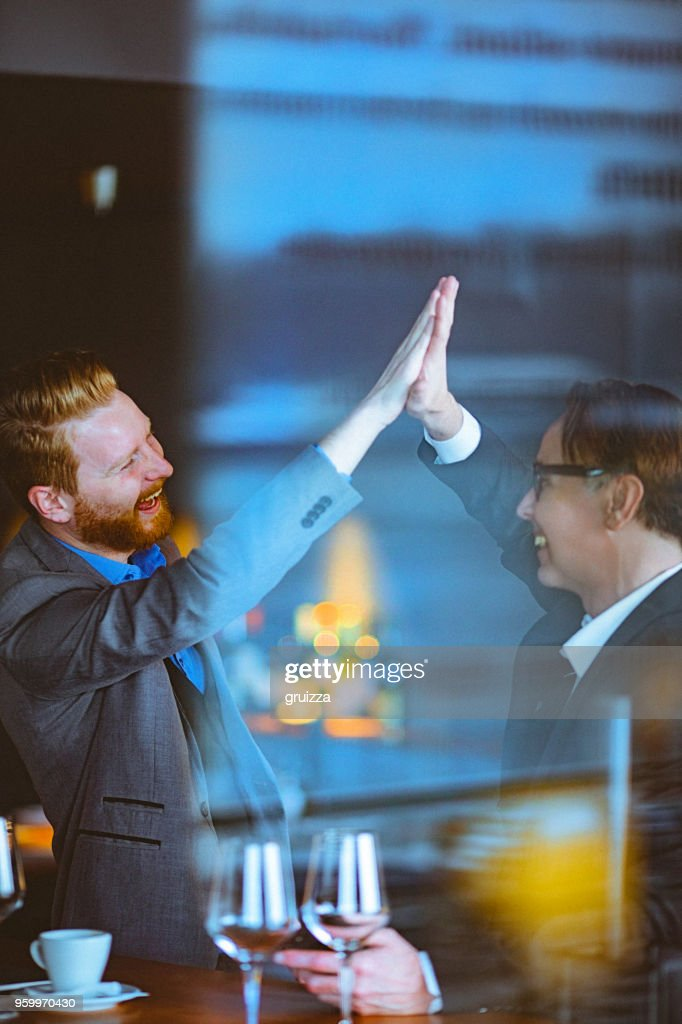 High-five : Stock-Foto