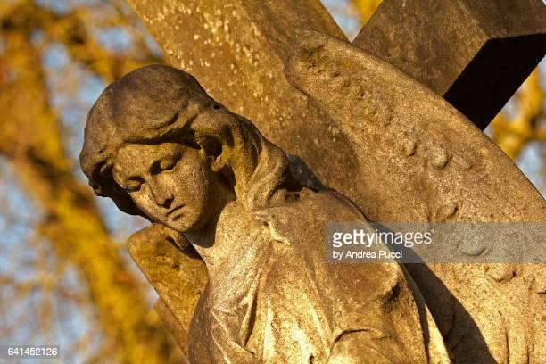 highgate cemetery in a winter morning, london, united kingdom - highgate stock-fotos und bilder