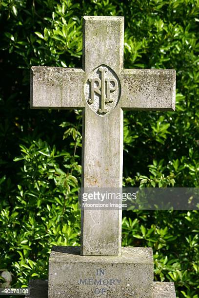 highgate cemetery in london, england - rest in peace stock photos and pictures