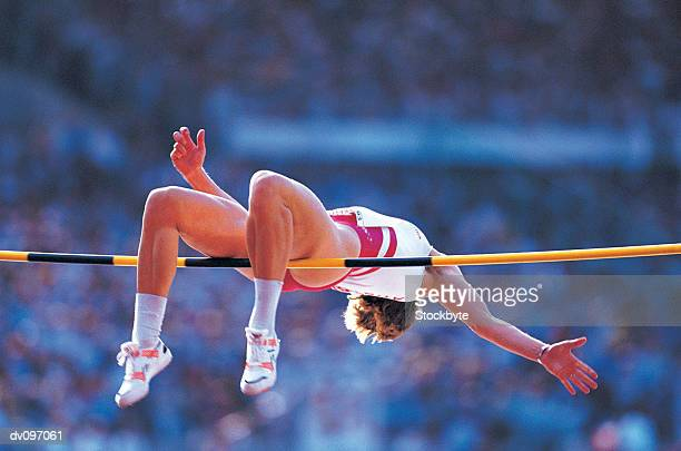 high-jumper - high jump stock pictures, royalty-free photos & images