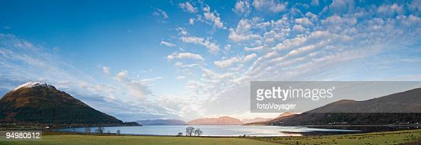 highland big sky loch - valley stock pictures, royalty-free photos & images