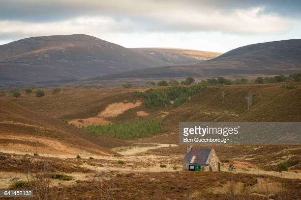A highland bothy hut in the Cairngorm National Park, Scotland