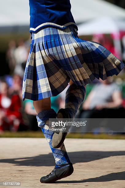 highland dancer - kilt stock photos and pictures