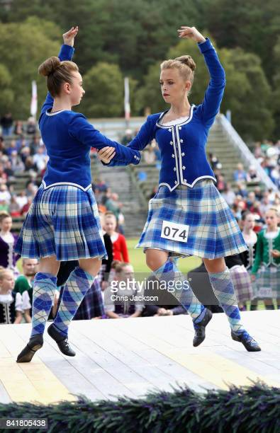 Highland dancing takes place during the 2017 Braemar Gathering at The Princess Royal and Duke of Fife Memorial Park on September 2 2017 in Braemar...