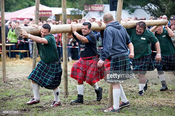 Highland Games athletes