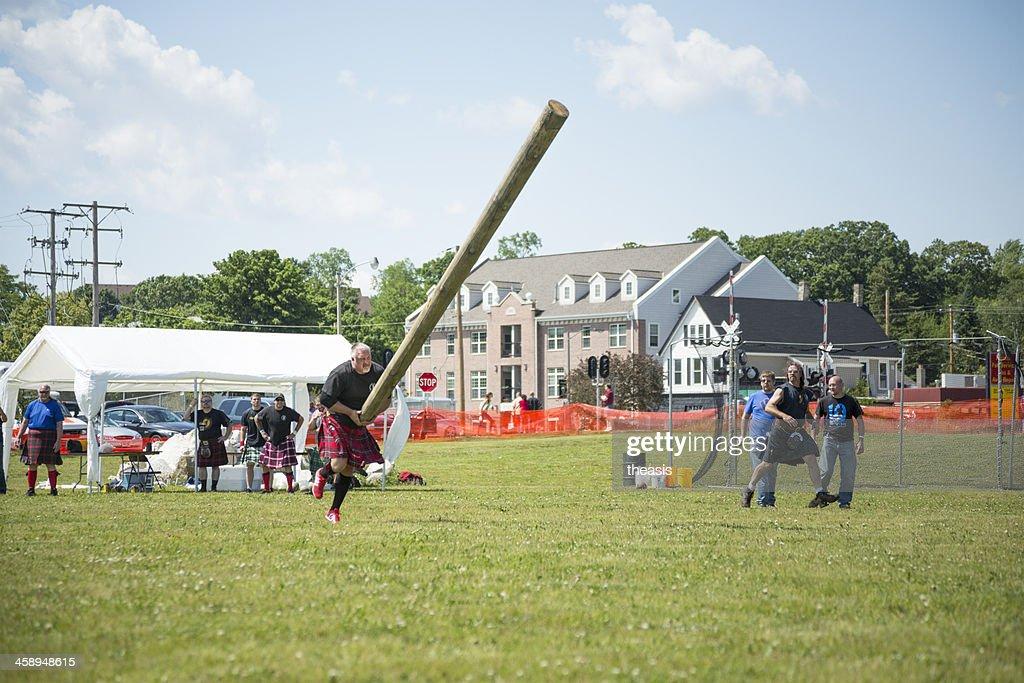 Highland Games - Caber Toss : Stock Photo