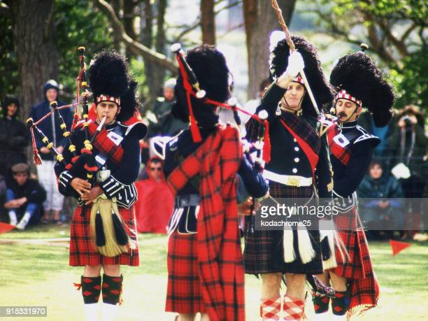 highland games portree isle of skye scotland uk - scottish culture stock pictures, royalty-free photos & images