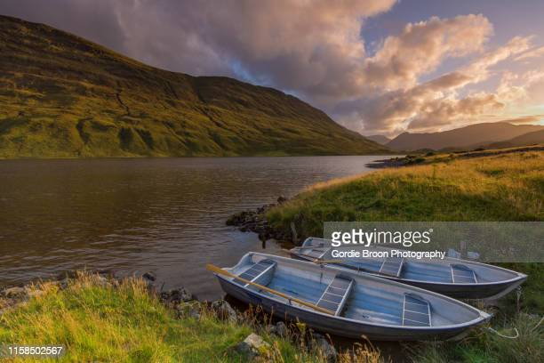 a highland loch. - wester ross stock pictures, royalty-free photos & images