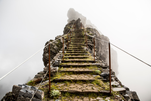 Highland trail, Madeira, Portugal - gettyimageskorea