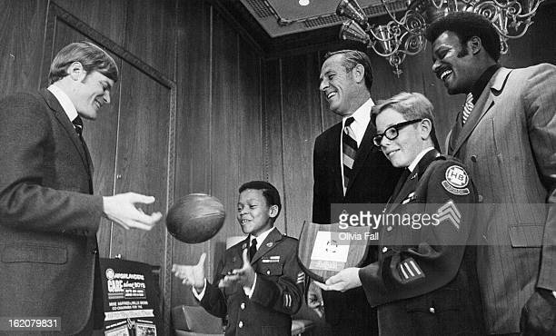 APR 28 1970 APR 29 1970 Highlander Boys Start Fund Drive Gov John Love center was presented a Distinguished Citizens Award Tuesday by two sergeants...