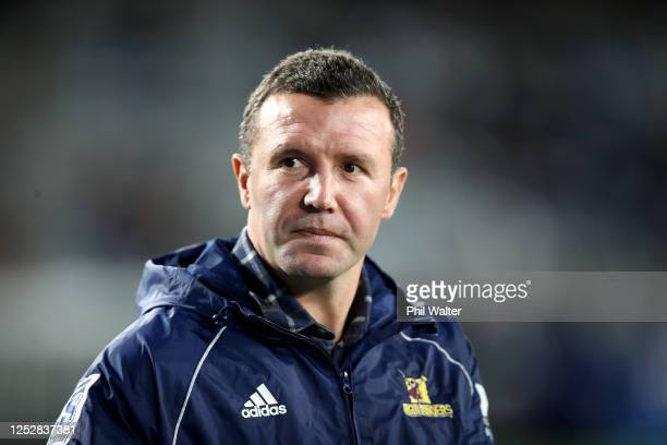 Highlanders head coach Aaron Mauger during the round 3 Super Rugby Aotearoa match between the Blues and the Highlanders at Eden Park on June 27 2020...