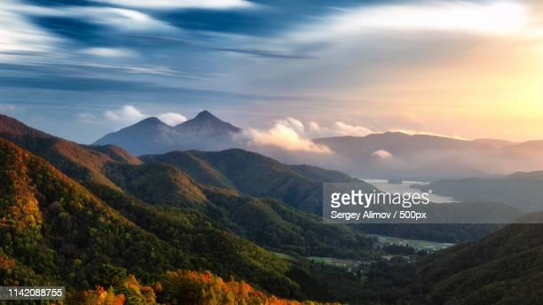 highlands near hibara lake - mountain ridge stock pictures, royalty-free photos & images