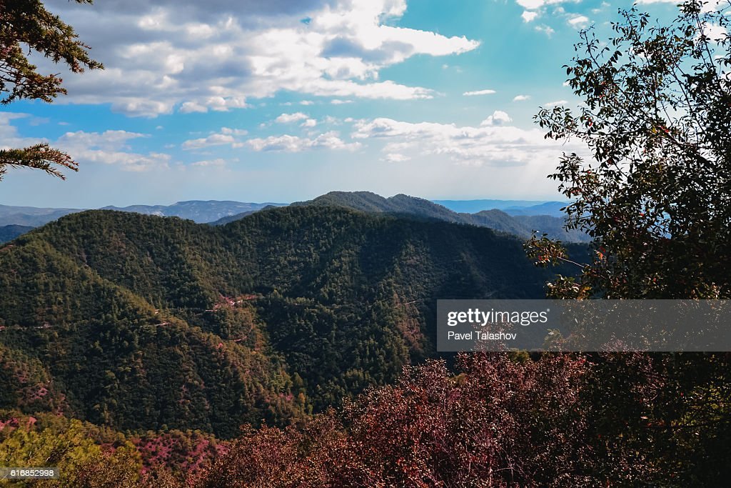 highlands of the island  Cyprus : Stock Photo