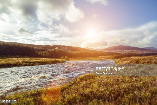 highlands river - scotland stock pictures, royalty-free photos & images
