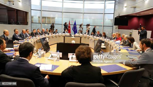 HighLevel Political Dialogue meeting between the EU and Turkey held in Brussels Belgium on July 25 2017